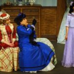 Lady Bracknell takes closer look at Cecily - Photo credit Gary Austin