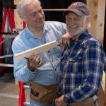 Gary Austin and Don Wells (Set Designer and Master Carpenter) having a bit of fun.