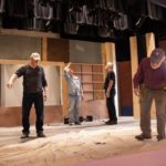 This great crew has built flats, walls, supports all to the set design specs.